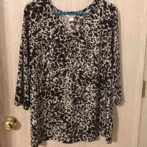 Plus Animal print with shimmer top